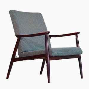 Scandinavian Walnut Armchair, 1960s