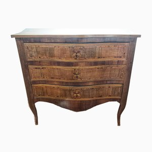 Antique Italian Inlaid Walnut Dresser