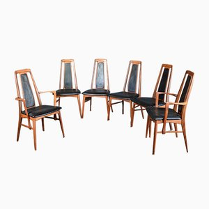 Eva Dining Chairs by Niels Koefoed for Koefoeds Møbelfabrik, 1960s, Set of 6