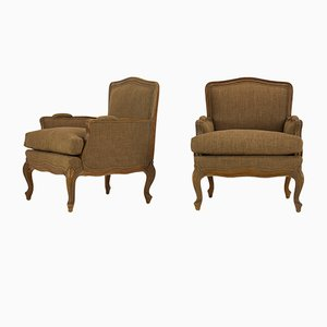 French Beech Armchairs, 1930s, Set of 2