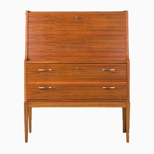 German Walnut Veneer Secretaire, 1960s