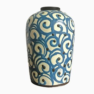 Moderne Keramikvase im skandinavischen Stil von Herman August Kähler, 1950er