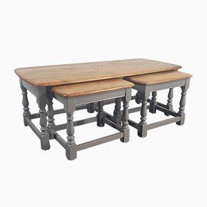 Tavolini ad incastro Trinity di Lucian Ercolani per Ercol, anni '70, set di 3