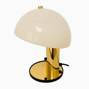 Tischlampe mit vergoldetem Fuß, 1970er