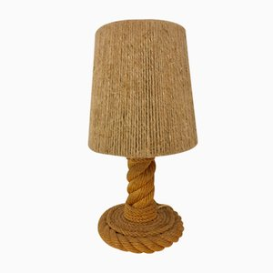 Lampe de Bureau en Corde par Adrien Audoux & Frida Minet, 1960s