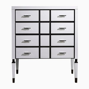White Finish Chest of Drawers by Jacobo Ventura for CA Spanish Handicraft
