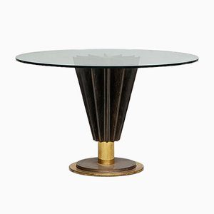 Italian Round Dining Table by Pierre Cardin, 1980s