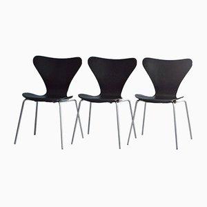 Sedie da pranzo vintage di Arne Jacobsen per Fritz Hansen, 1987, set di 3