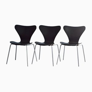 Vintage Dining Chairs by Arne Jacobsen for Fritz Hansen, 1987, Set of 3