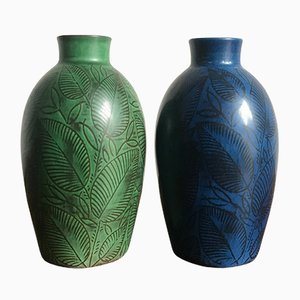 Danish Ceramic Vases from Royal Copenhagen, 1940s, Set of 2