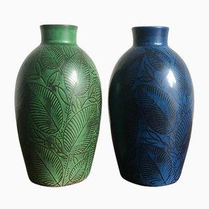 Vases en Céramique de Royal Copenhagen, Danemark, 1940s, Set de 2