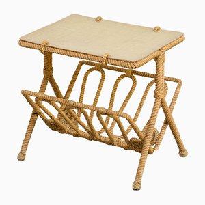 Table d'Appoint en Corde par Adrien Audoux & Frida Minet, 1950s