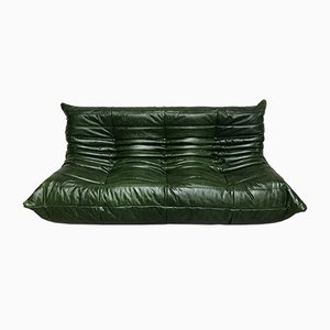 Vintage Leather Togo Sofa by Michel Ducaroy for Ligne Roset