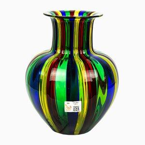 Mehrfarbige Vase aus geblasenem Muranoglas von Urban für Made Murano Glas, 2019