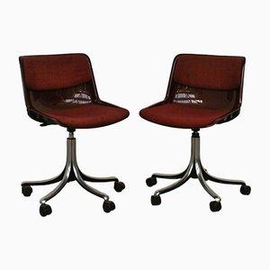 Chaises de Bureau Modus Vintage par Osvaldo Borsani pour Tecno, Set de 2