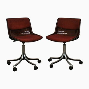 Vintage Modus Bürostühle von Osvaldo Borsani für Tecno, 2er Set