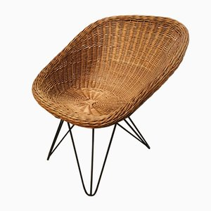 Wicker Lounge Chair, 1960s