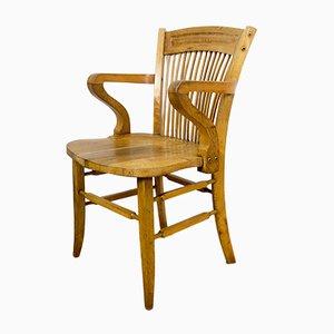 Vintage Spanish Oak Desk Chair, 1920s