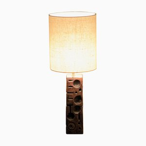 Italienische Tischlampe aus Holz, 1970er