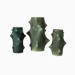 Stoneware Vases from Knud Basse, 1960s, Set of 3
