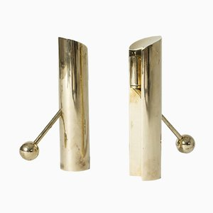 Variabel Brass Candleholders by Pierre Forssell for Skultuna, 1960s, Set of 2