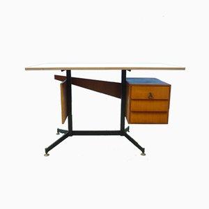 Italian Teak Desk, 1950s