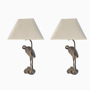 Heron Table Lamps from Maison Bagues, 1960s, Set of 2