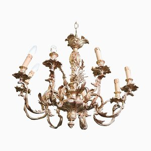 Antique Gilded Bronze Chandelier, 1880s