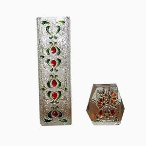 Vasen aus Kristallglas von Walther, 1970er, 2er Set