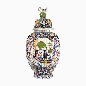 Antique Dutch Delft Vase from Adrien Kocks