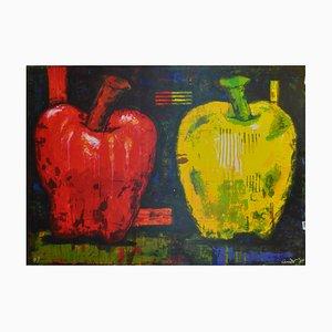 Großer amerikanischer Apfel Siebdruck von Aaron Fink für Jørgen Hansen, 1984