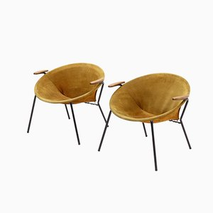 Balloon Lounge Chairs by Hans Olsen for Lea, 1960s, Set of 2