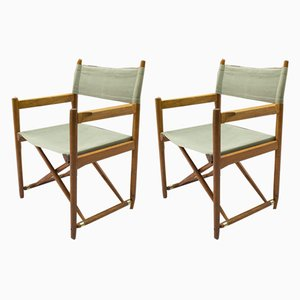 Swiss Model 903 Beech Folding Chairs by Curt Culetto for Horgen Glarus, 1960s, Set of 2