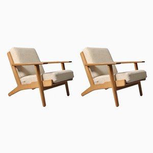 GE290 Lounge Chairs by Hans J. Wegner for Getama, 1950s, Set of 2