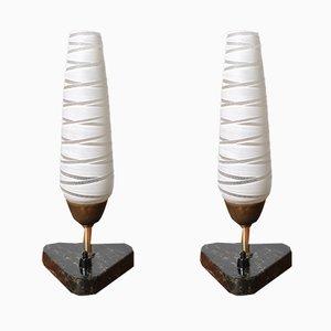 Lámparas de mesa danesas Mid-Century, años 50. Juego de 2