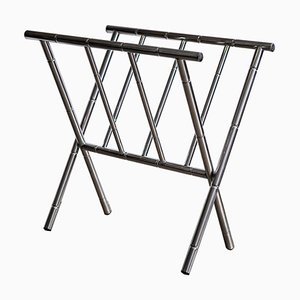 Vintage Chrome Magazine Rack