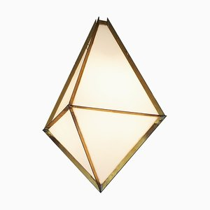 Brass and Acrylic Glass Pendant Light by Veit Heart
