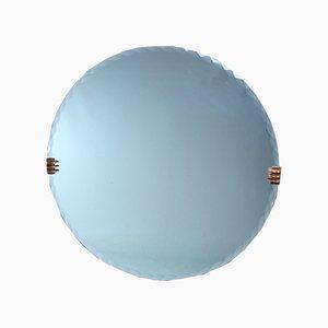 Art Deco Circular Wall Mirror, 1930s