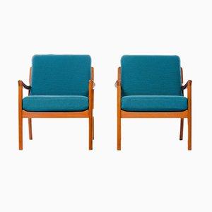 Sessel mit Gestell aus Teak von Ole Wanscher für Cado, 1960er, 2er Set