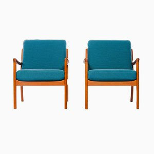 Teak Lounge Chairs by Ole Wanscher for Cado, 1960s, Set of 2