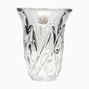 Belgian Crystal Vase from Val Saint Lambert, 1950s