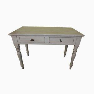 Antiker weiß lackierter Schreibtisch