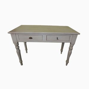Antique White Lacquered Desk