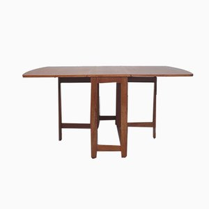 Norwegian Drop Leaf Dining Table, 1970s