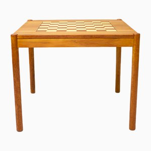 Danish Teak Chess Table by Georg Petersen, 1960s