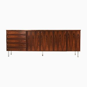Vintage Rosewood and Chrome Sideboard, 1970s