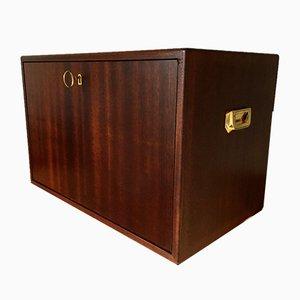 Large Mahogany Cigar Cabinet, 1980s