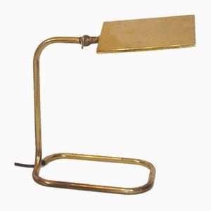 Lámpara de banquero vintage, años 60