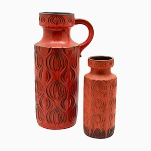 Vases from Scheurich, 1968, Set of 2