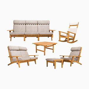 GE-375 Living Room Set by Hans J. Wegner for Getama, 1960s